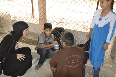 Sakna Mohammad went with her two grandchildren and their mother to Nassiriya prison to visit her son, Abdul Sattar.