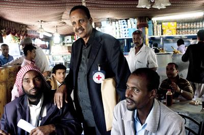 Before the crisis started, ICRC tracing officer Mohamed Hersi met regularly with Somali nationals seeking refuge in Sana'a, to update them on the search for their relatives and gather news from the elders in the group.
